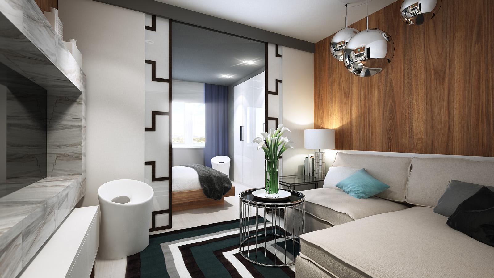 Дизайн комнаты гостиная спальня