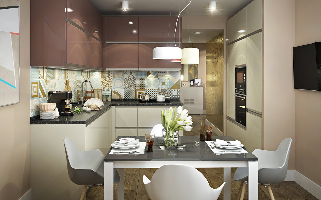 120Дизайн квартиры дома п 44