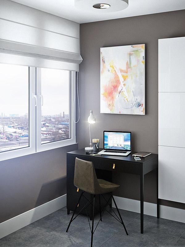 """Интерьер двухкомнатной квартиры в доме п-44т жк """"мортонград""""."""