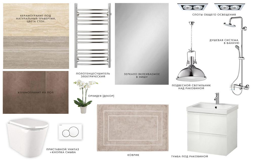 концепция интерьера ванной, дизайн интерьера в жилом комплексе фили град, санузел, ванная