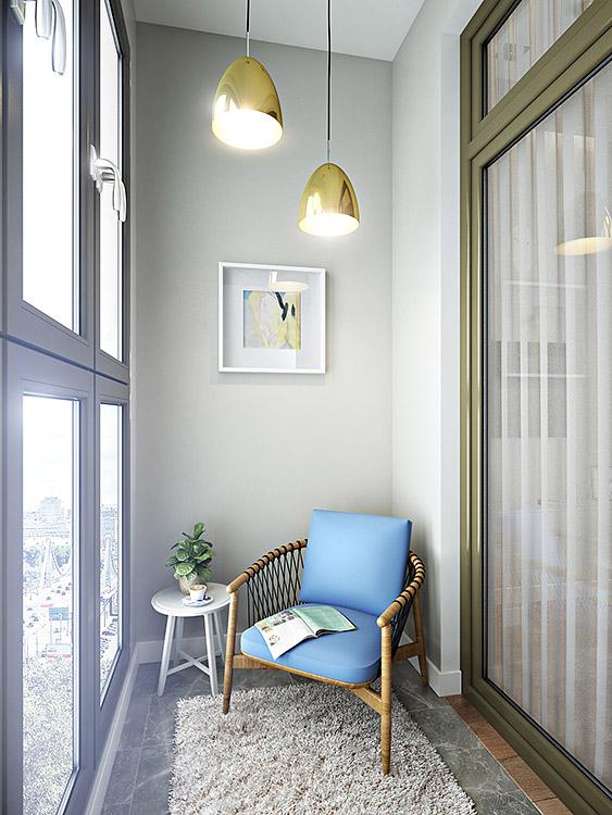 концепция интерьера, дизайн интерьера в жилом комплексе фили град, балкон, проект балкона, дизайн балкона