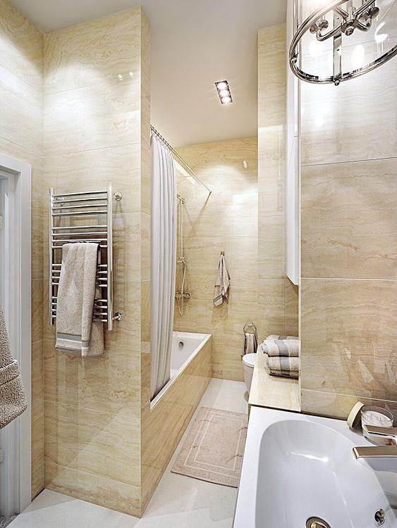 концепция интерьера, дизайн интерьера в жилом комплексе фили град, санузел, ванная