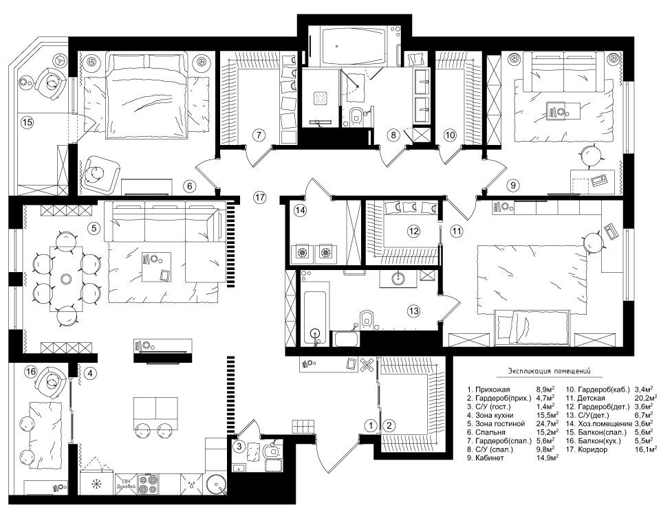 планировка, донской олимп, квартира, дизайн, дизайнер, интерьер, отделка, сомов, решение, купить
