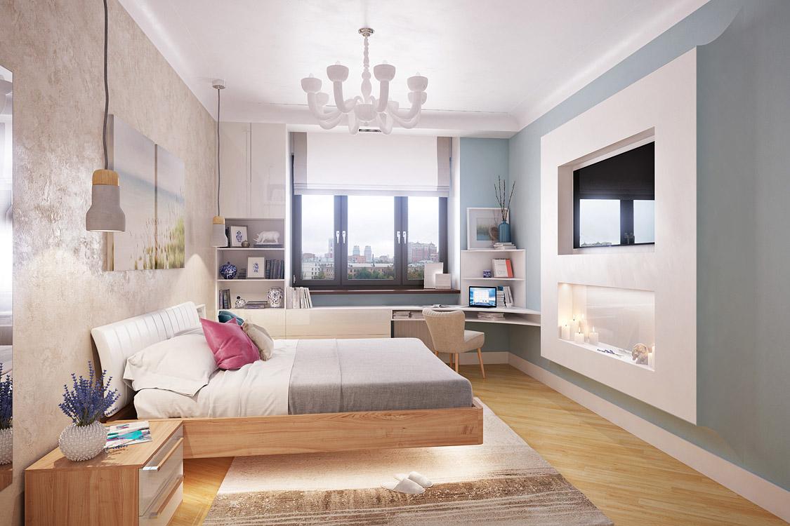 Дизайн спальни с телевизором фото